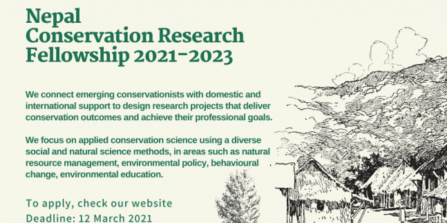 Call for Application: Nepal Conservation Research Fellowship 2021